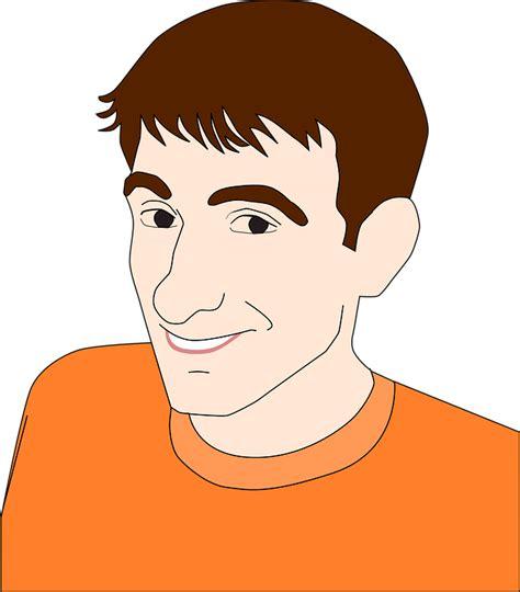 Kostenlose Vektorgrafik Junge Gesicht Kopf Mann