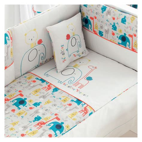 Baby Cot Quilt Cover by Zoo Pattern Cot Bedding Set By Pirulos Co