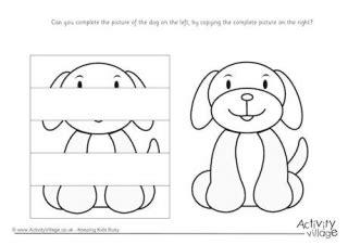 printable dog puzzle dog printables