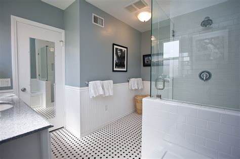 white bathroom tile paint traditional black and white tile bathroom remodel