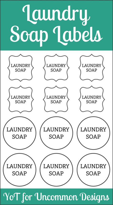 Printable Laundry Tags | diy laundry soap and labels yesterday on tuesday