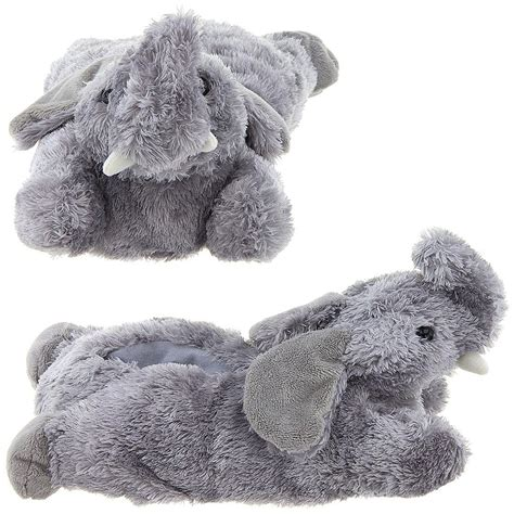 elephant slippers for adults wishpets small children kid grey gray elephant animal
