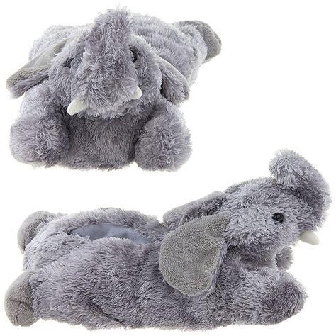 animal slippers for wishpets small children kid grey gray elephant animal