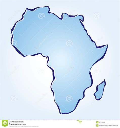 africa map design vector map of africa stock illustration image 51115359