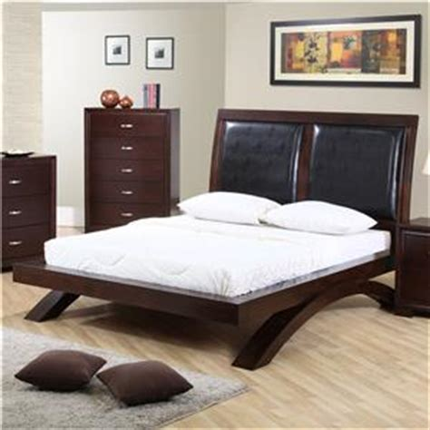 raven bedroom set elements international raven king faux leather headboard