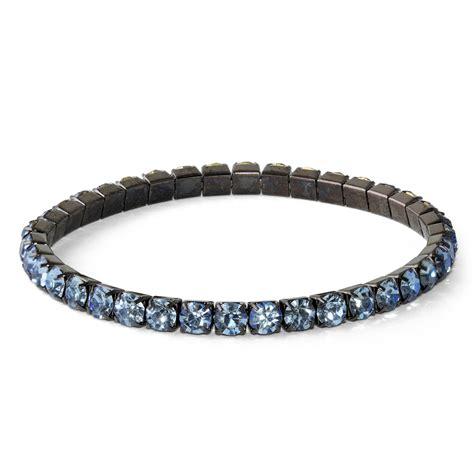 tanzanite glass elastic bracelet