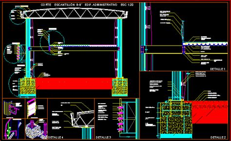 detail steel building  autocad cad   kb