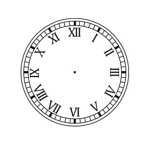 printable roman clock face xxvi