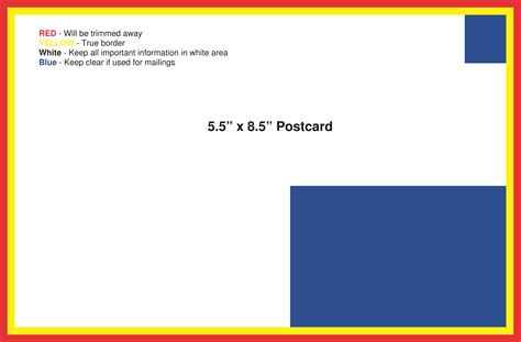 8 5 x 5 5 template postcard template american printing and mail