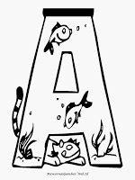 Mewarnai Huruf Abjad Bergaya Akuarium | Mewarnai Gambar