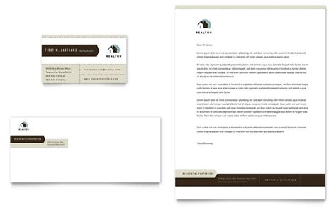 business letterhead templates indesign residential realtor business card letterhead template design