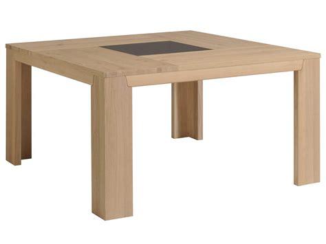 Table Manger Bois by Table 224 Manger Carr 233 Bois Et Verre L140xp140xh77 5cm Bruts
