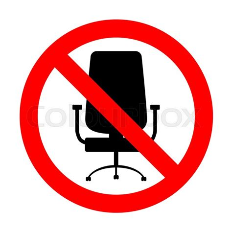 signage office signs national business furniture no office chair sign stock vector colourbox