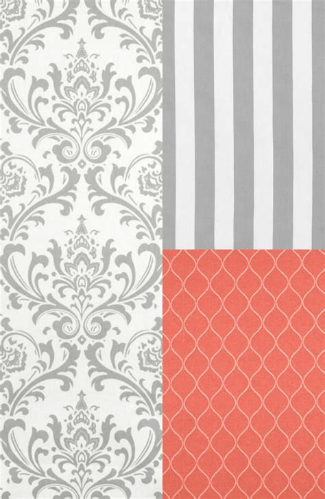 pretty things design coral gray bedroom gray and coral bedroom inspiration marty s musings