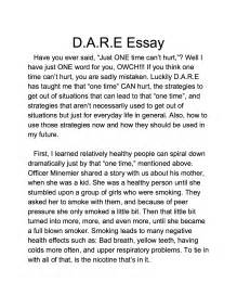 Best Award Essay by Lake Murray Elementary D A R E Graduation And Essay Winner D A R E America