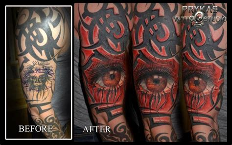 Tattoo Eye Cover Up | arm eye cover up 3d tattoo by prykas tattoo