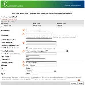 create your cccis payment account