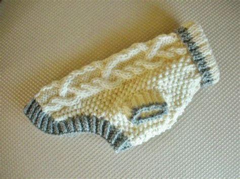 knit pattern chihuahua sweater dog sweater diamond cable knit ivory small yorkie