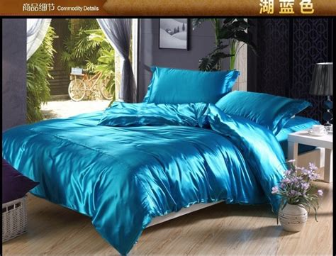 Blue Satin Comforter by Green Blue Silk Satin Bedding Comforter Set Sets King