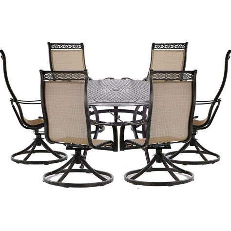 hanover manor 7 aluminum outdoor dining set with 6