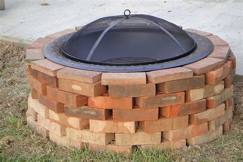 how to make a brick fire pit in your backyard review brick lined fire pit garden landscape