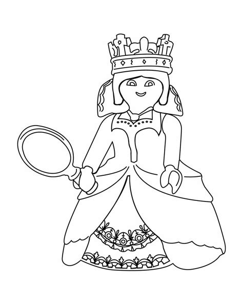 Playmobil Princesse Robe Coloriage Playmobil