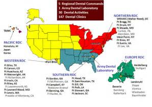 us army regions map u s army dental corps