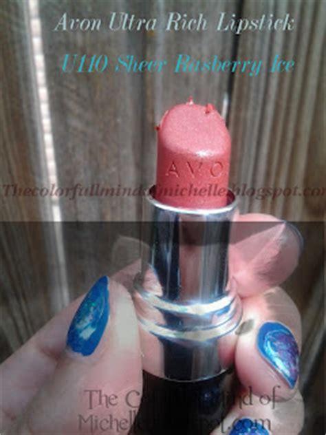 Avon Lipstick Raspberry mind of avon ultra rich lipstick in sheer raspberry review pic heavy