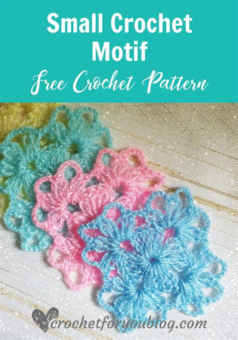 small crochet motif free pattern crochet for you