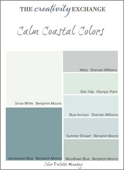 coastal paint colors on coastal color palettes