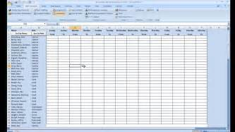availability schedule template excel employee availability