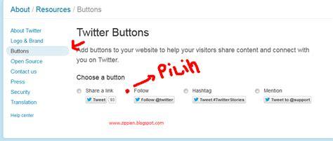 Membuat Follower Twitter Menjadi Ribuan | cara membuat tombol follow me twitter pada blog zippien