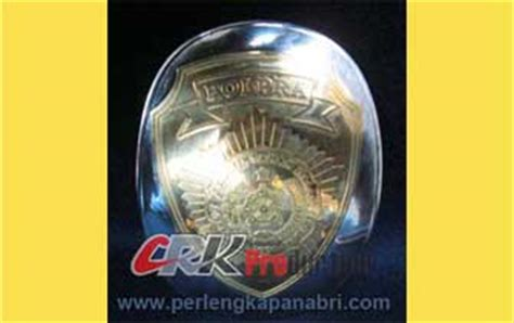 Emblem Baju Baret Polri emblem kuningan black nikel stainles polisi polri tni