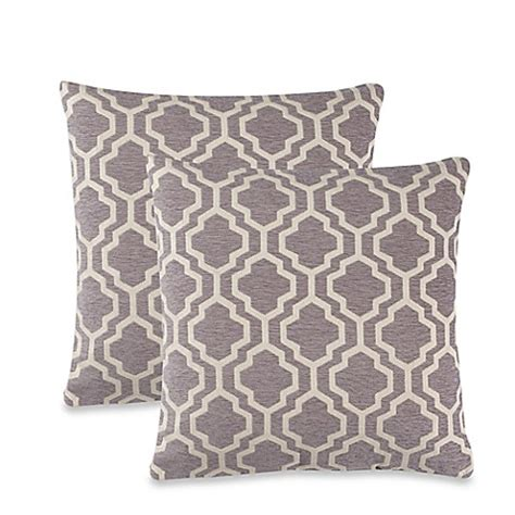 bed bath beyond decorative pillows lyssa throw pillow in grey set of 2 bed bath beyond