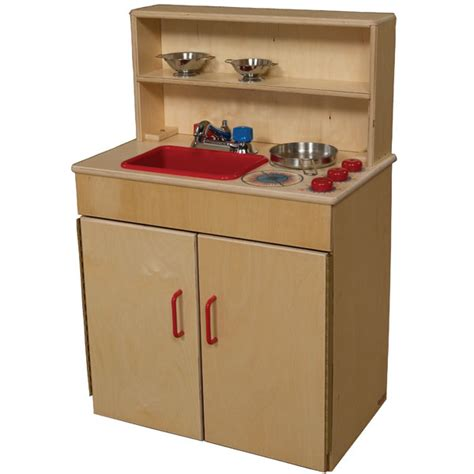 wood designs play kitchen wood designs wd10600 3 in 1 play kitchen center schoolsin