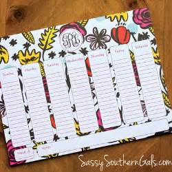 personalized desk blotter calendar office 183 sassy southern gals 183 monogrammed gifts