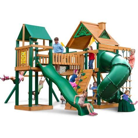cheap wooden swing sets clearance gorilla playsets catalina wooden swing set walmart com