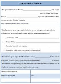 Contract For Subcontractors Template modal title