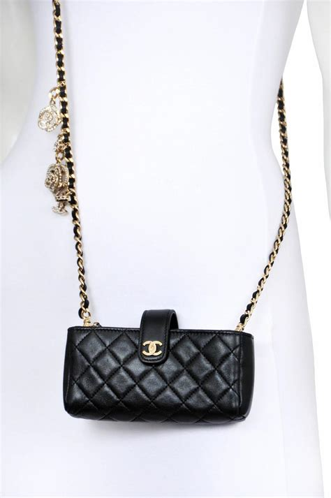 3 In 1 Chanel Brown chanel cell phone charm purse at 1stdibs