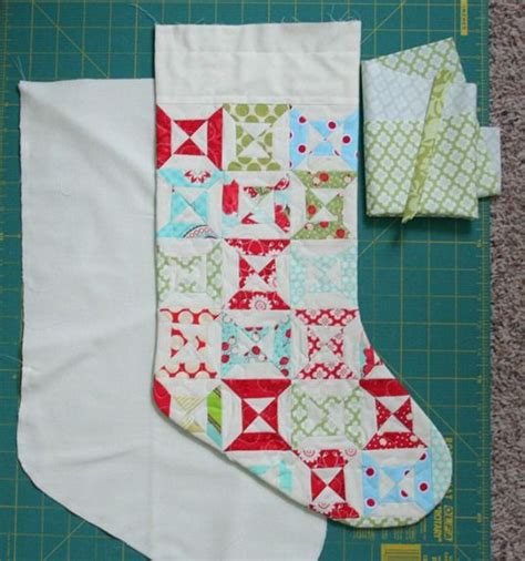 free pattern for christmas stocking with cuff stocking tutorial sewing christmas pinterest