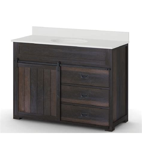 single bathroom vanities shop style selections morriston distressed java 48 in