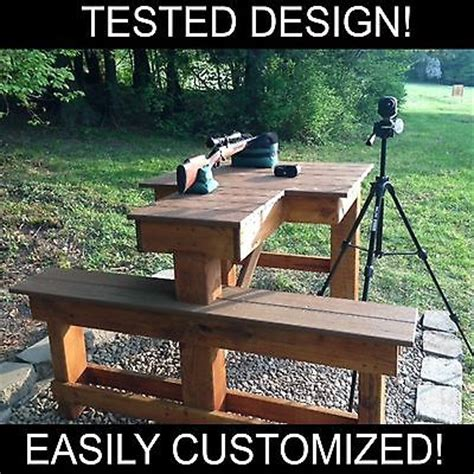 build your own shooting bench shooting bench plans booklet build your own bench and