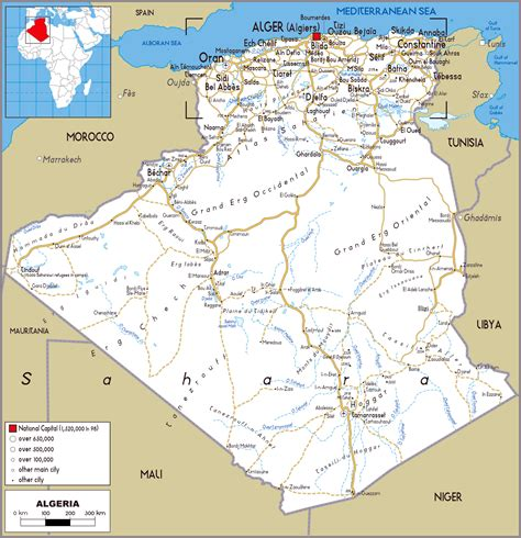 algeria map with cities maps of algeria map library maps of the world