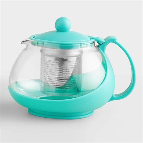 Infuser Tea Pot aqua glass teapot infuser world market