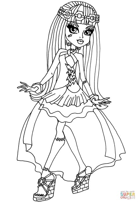 High Frankie Coloring Pages frankie 13 wishes coloring page free printable coloring