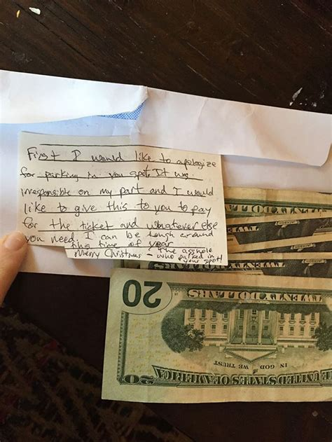 woman left  note   stole  parking space  response  unexpected
