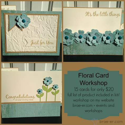 card workshop floral card kit workshop the brae er