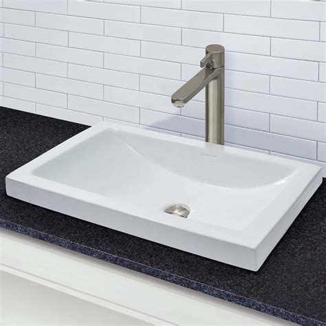 Recessed Sinks by Breanna Rectangular Semi Recessed Vitreous China Lavatory