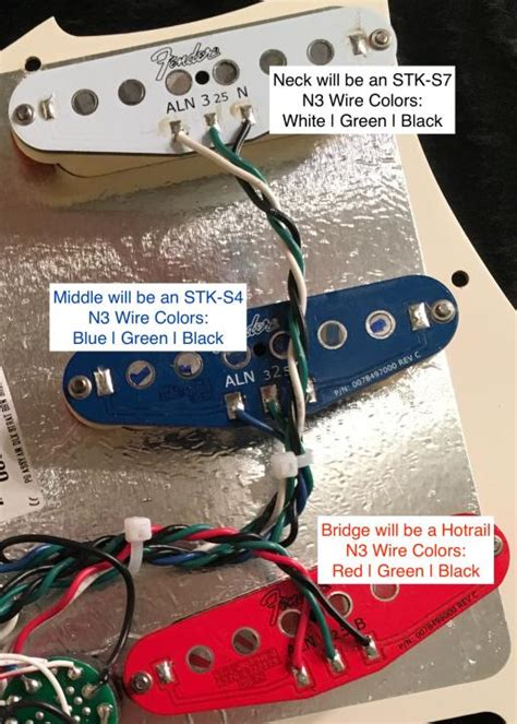 matching fender n3 wires to sd wires wire color help needed
