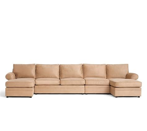 dual chaise sofa pearce upholstered 4 piece double chaise sectional